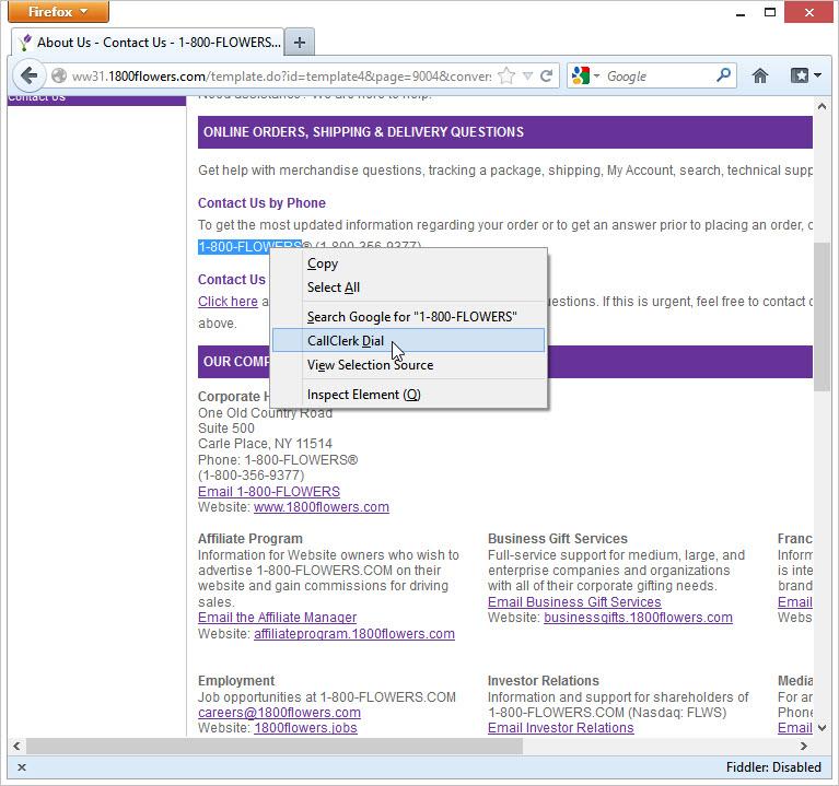 CallClerk - Firefox Add On