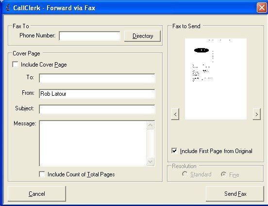 callclerk forward fax via fax